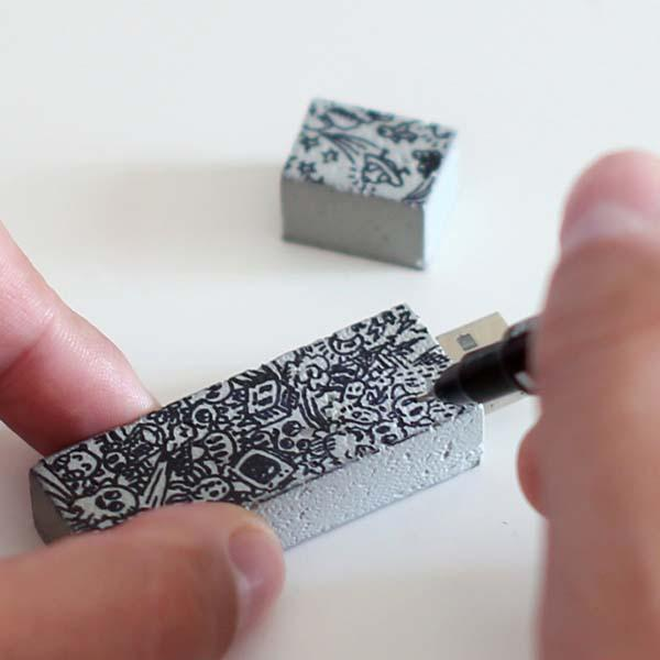 The Handmade Concrete Cement USB Flash Drive