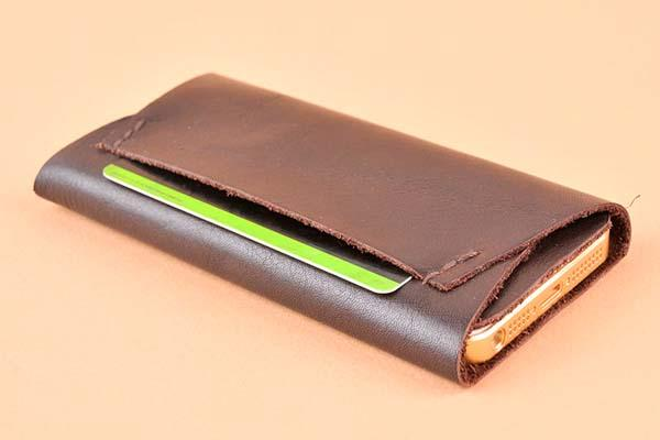 The Handmade Leather iPhone 5 Case with a Card Pocket