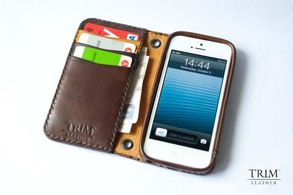 The Handmade Genuine Leather Wallet iPhone 5s Case