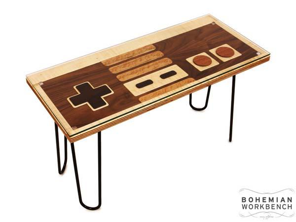 the handmade nes controller coffee table | gadgetsin