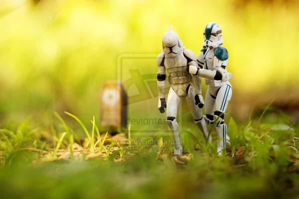The Imperial Stormtroopers Live on Earth
