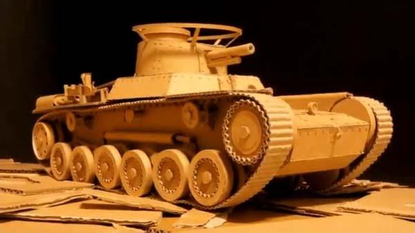 The Remote Controlled Tank Built with Amazon Boxes