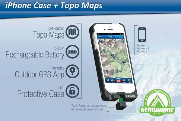 TopoCharger iPhone 5 Battery Case with Built-in Topo Maps