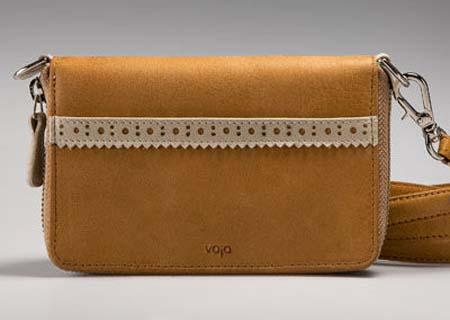 Vaja Ella Universal Carryall Leather Cross-Body and Clutch