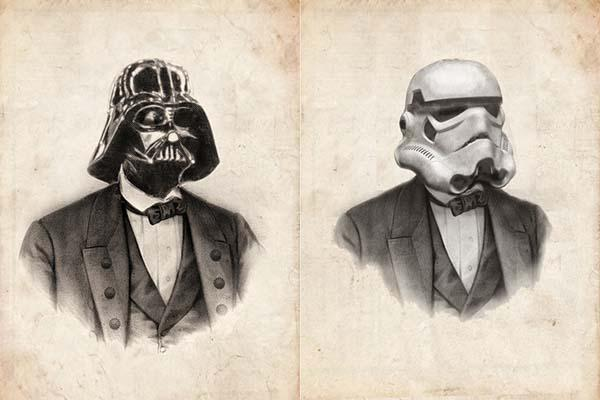Vintage Victoria Star Wars Portrait Art Prints