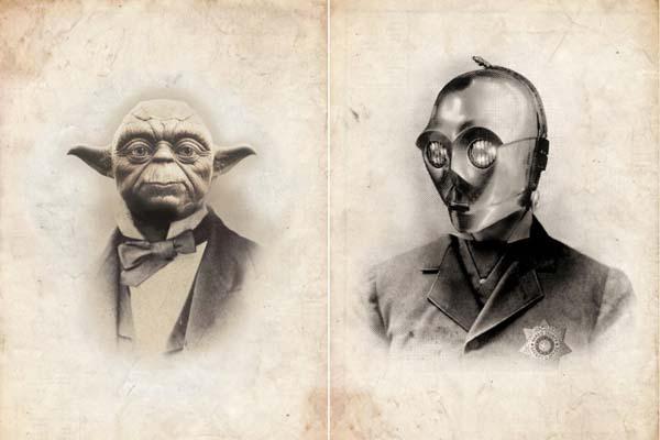 Vintage Victoria Star Wars Portrait Art Prints