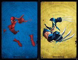 """Materialize"" Superhero Illustration Series"