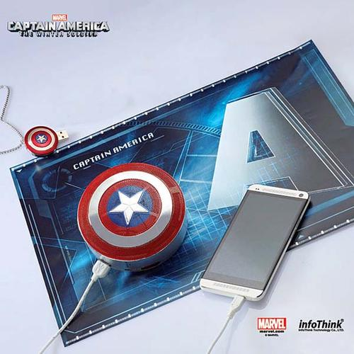Captain America The Winter Soldier Bluetooth Speaker with Backup Battery