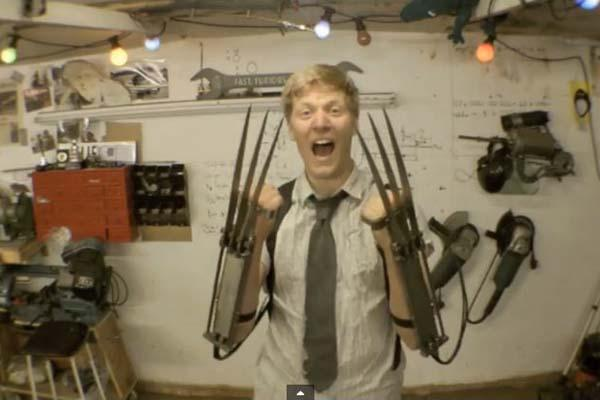 Crazy Inventor Creates Real-Life Fully Automatic Wolverine Claws