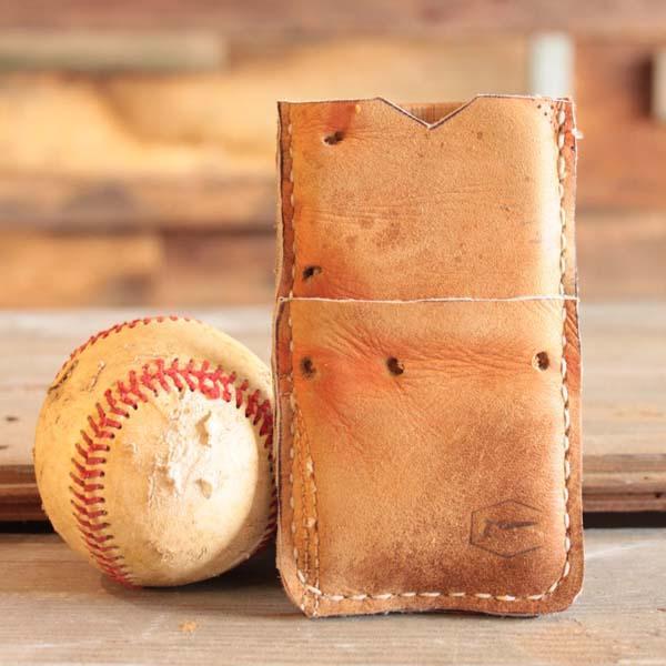 Handmade Recycled Baseball Glove iPhone Case