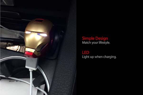 Iron Man USB Car Charger