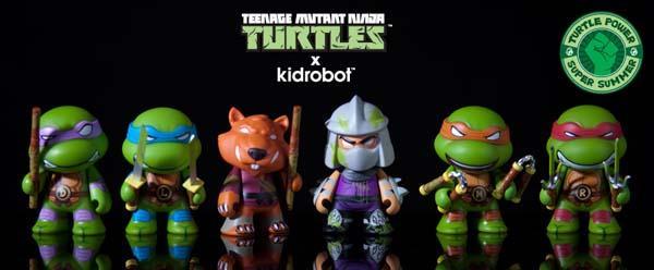 Kidrobot TMNT Ooze Action Vinyl Figures
