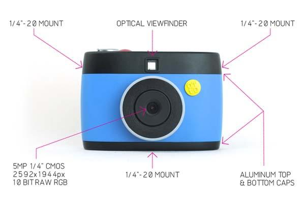 OTTO Hacksble GIF Digital Camera Powered by Raspberry Pi