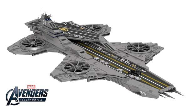 Pretty Awesome LEGO SHIELD Helicarrier