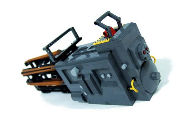 Pretty Awesome Motorized LEGO Minigun