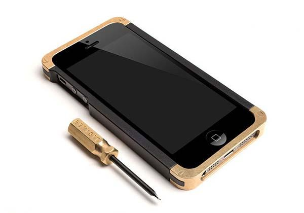 Revisit Solid Brass Bumper iPhone 5s Case