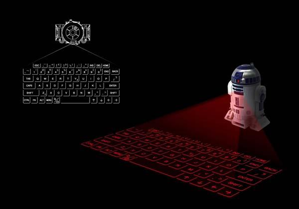 Star War R2-D2 Projection Bluetooth Keyboard