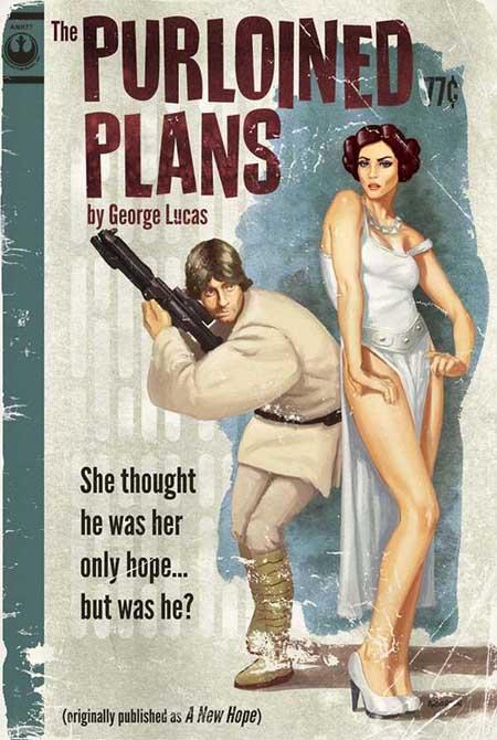 Star Wars Pulp Trilogy Poster Set