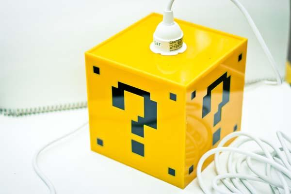 Super Mario Question Mark Block Hanging Lamp