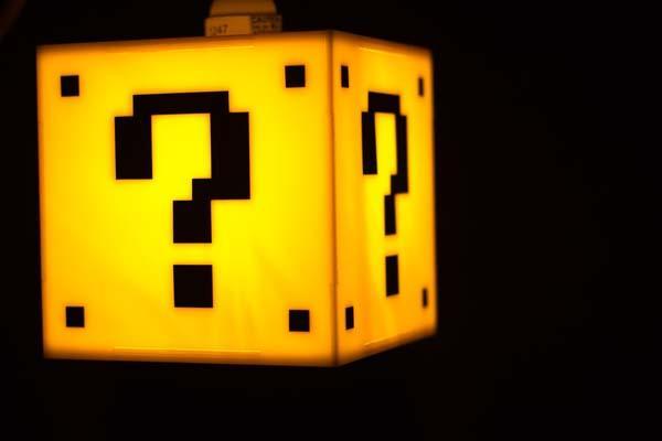 Super Mario Question Mark Block Hanging Lamp