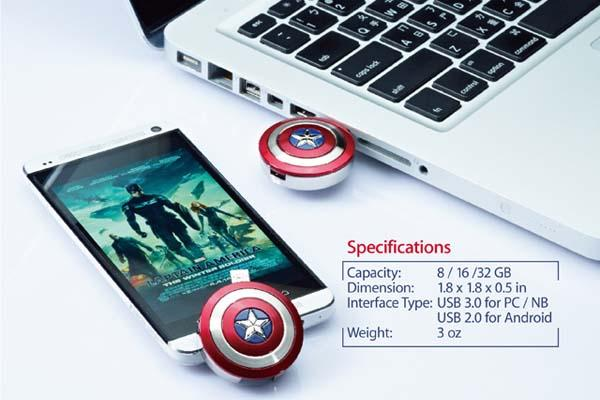 The Captain America 2 OTG USB Flash Drive
