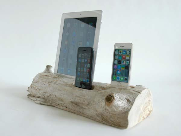 The Handmade Three-Cradle Docking Station for iPhone and iPad