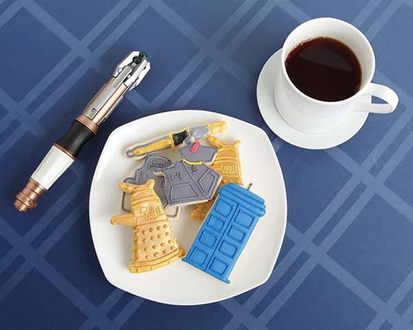 Official Licensed Doctor Who Cookie Cutter Set