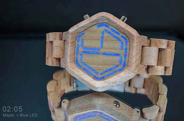 Tokyoflash Kisai Night Vision Wood LED Watch