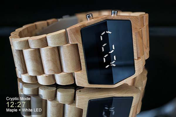 Tokyoflash Kisai Xtal Wood LED Watch