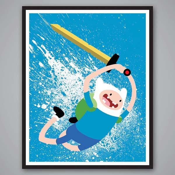 Adventure Time Splatter Paint Poster Set