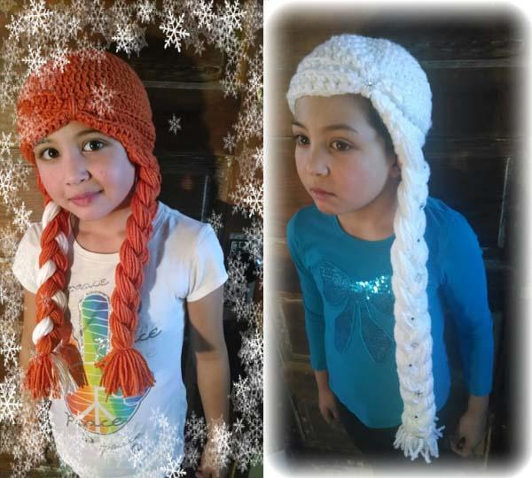 Frozen's Elsa and Anna Inspired Knit Hats