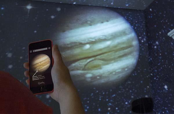 Luna App-Enabled Home Planetarium