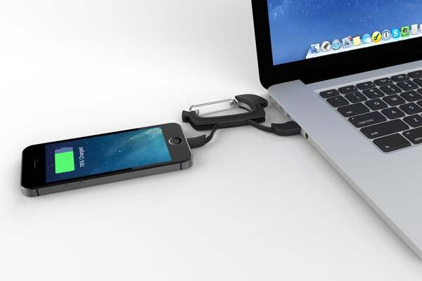 NomadClip Catabiner Sized Charging Cable