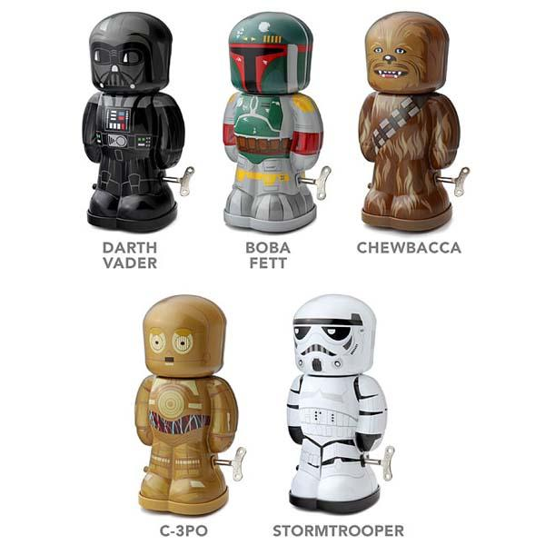 Star Wars Themed Tin Wind Up Toys