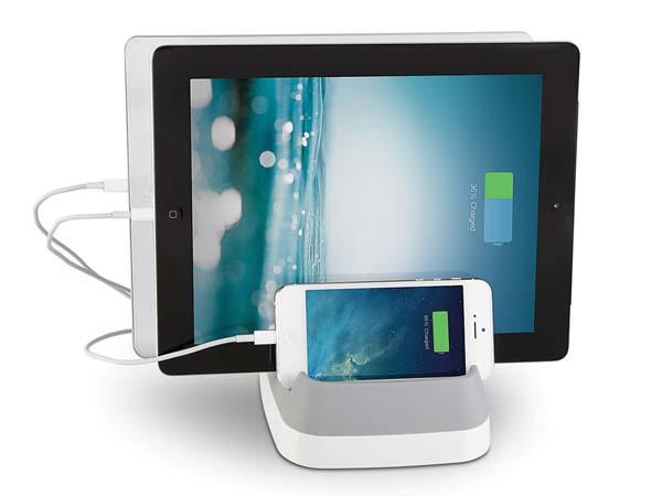 The Cord Storing Three Device Charging Station
