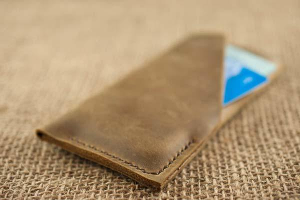 The Handmade Chestnut Brown Leather iPhone Case