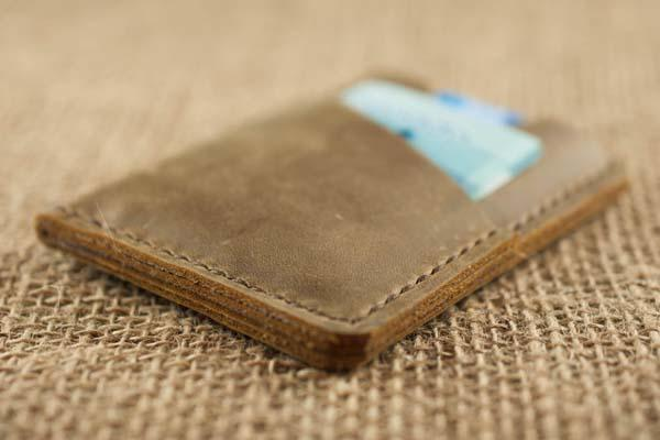 The Handmade Chestnut Slim Leather Wallet
