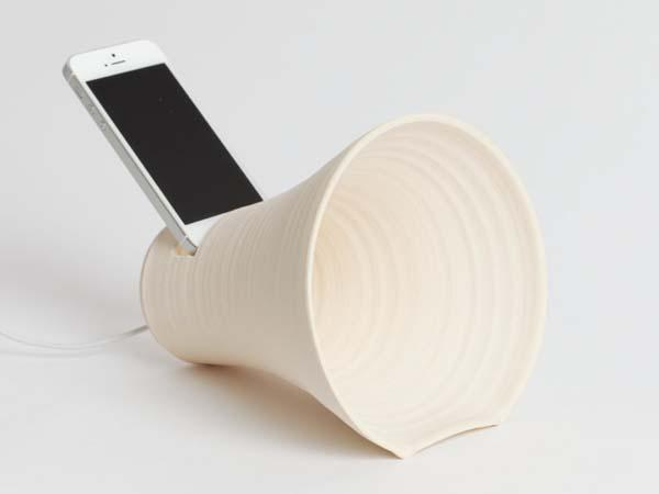 Handmade stoneware iPhone dock