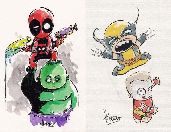 how to draw so cute superheroes