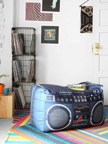 The Retro Boombox Bean Bag