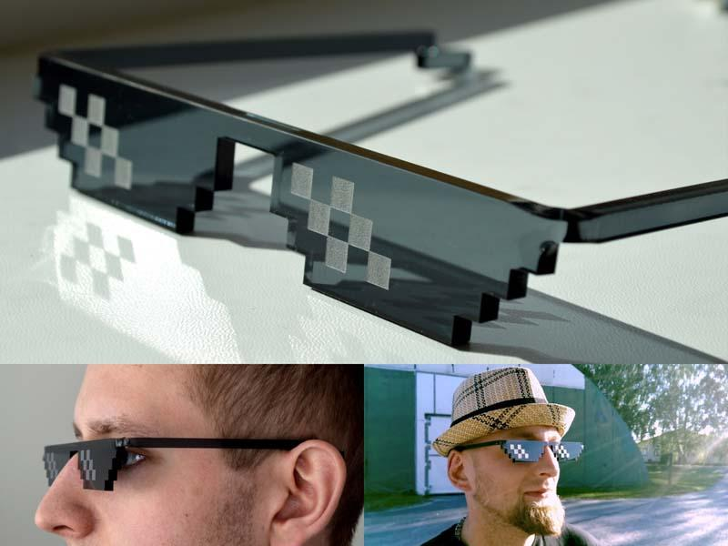 The Sunglasses Shows Your Love to Pixel Art