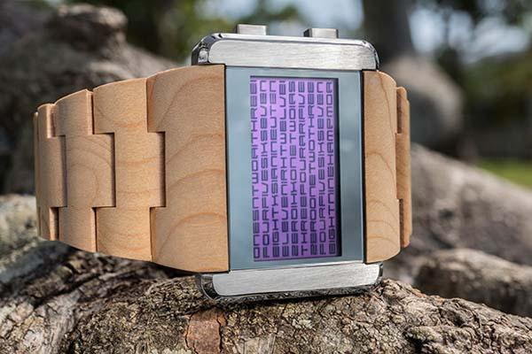 Tokyoflash Kisai Kaidoku Wood LCD Watch