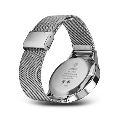 ZIIIRO Saturn Digital Watch in Chrome Silver