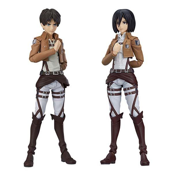 Attack on Titan Eren and Mikasa Action Figures