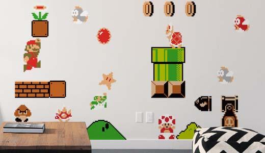 Blik Nintendo Power Ups Wall Decals