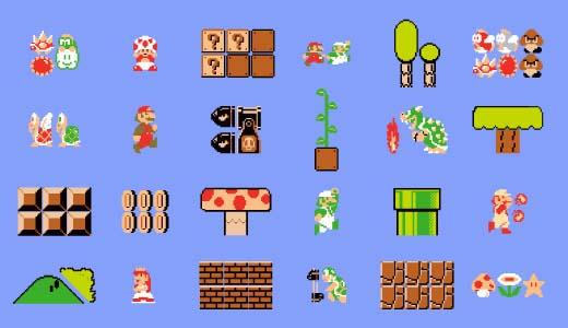 Blik Nintendo Power-ups Wall Decals