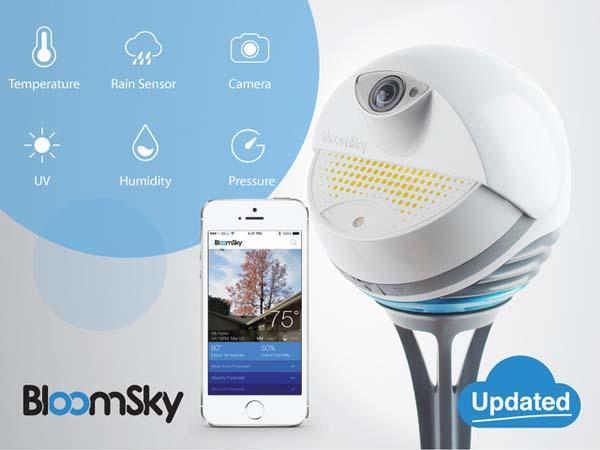 bloomsky smart weather station with hd camera gadgetsin. Black Bedroom Furniture Sets. Home Design Ideas