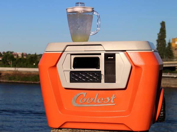 Coolest A Multi Functional Cooler with Blender, Bluetooth Speaker, USB Charger and More