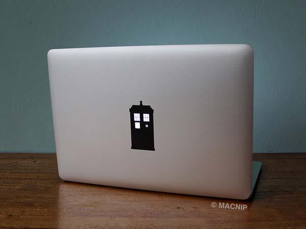 Doctor Who TARDIS Vinyl Sticker for MacBook