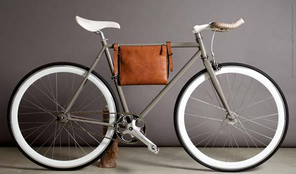 Hard Graft Frame Folio Leather Bicycle Bag